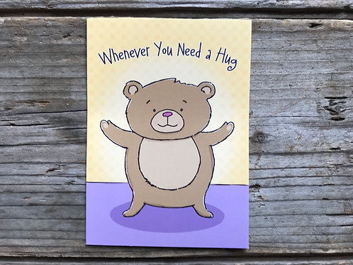 """""""Whenever You Need a Hug"""" 5"""" x 3.75"""" Little Jeanie Greeting Card by Hazy Jean"""