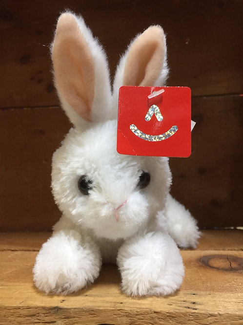 "7"" White Baby Bunny Aurora Brand Plush Stuffed Animal"