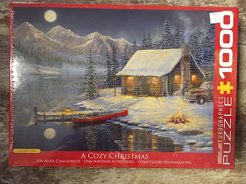 A Cozy Christmas by Sam Timm 1000 Piece Eurographics Puzzle