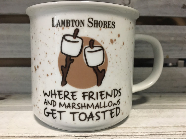 """Where Friends and Marshmellows Get Toasted"" Lambton Shores Ceramic Mug"