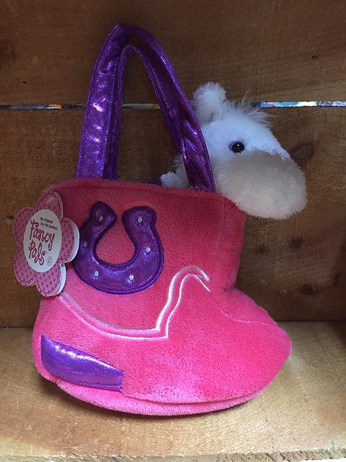 "8"" Fancy Pal Pony in a Purse Aurora Brand Plush Stuffed Animal"