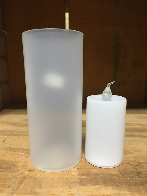 Small Fake Candle and Candleholder
