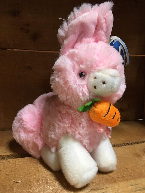 "6"" Pink Bunny Plush Stuffed Animal"