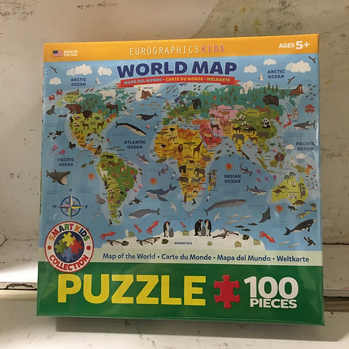 World Map- 100 pc Puzzle