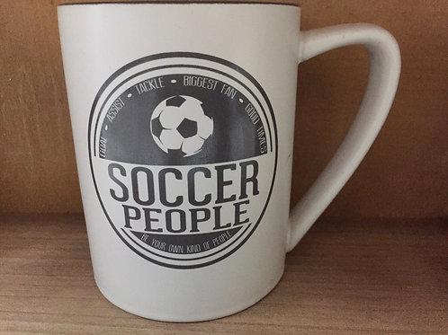 """Soccer People"" Ceramic Mug"