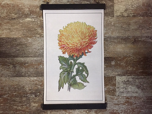 """20"""" x 12"""" Yellow Flower Wood and Canvas Banner by Young's Inc"""