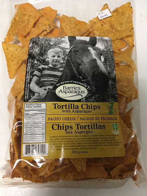 Barrie's Asparagus Nacho Cheese Tortilla Chips