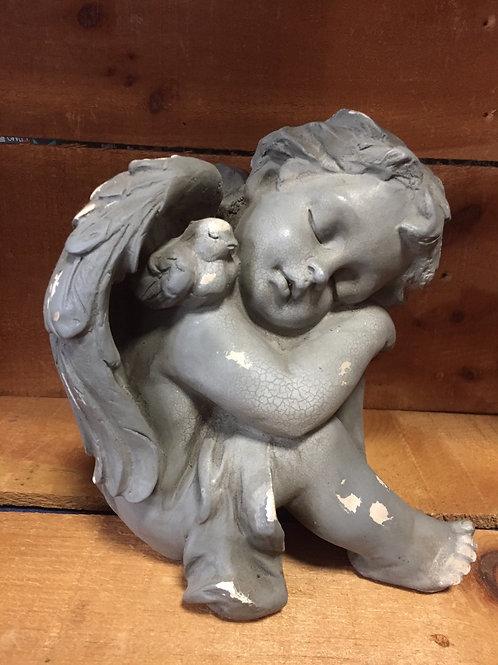 Angel With Bird on Shoulder