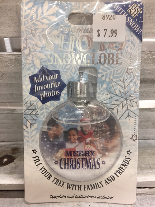 Photo Snow Globe Ornament - Merry Christmas