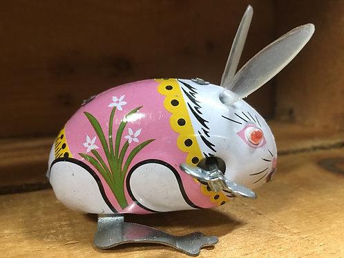 "3"" x 2"" Bunny Rabbit Metal Windup Collectible Toy"