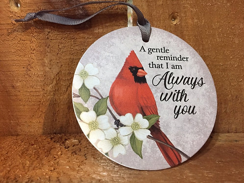 "3.5"" ""A Gentle Reminder..."" Memorial Cardinal Ornament by Carson Home Accents"