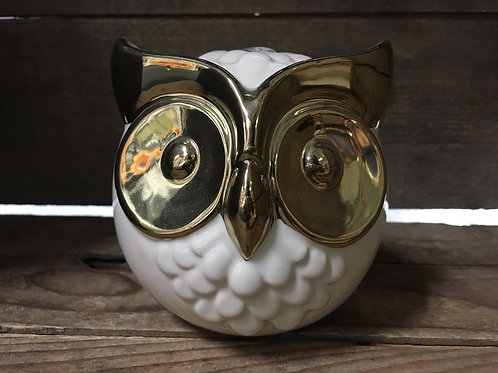 "4.5"" x 4.5"" x 4.5""  Ceramic Owl Statue Figurine by Abbott"