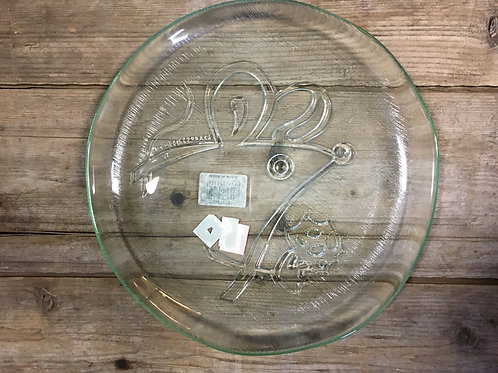 """8.75"""" x 8.75"""" Mouse Clear Glass Plate by Abbott"""