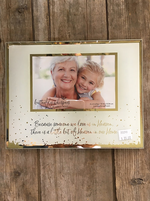 """""""Because Someone We Love is in Heaven..."""" 4x6 Memorial Picture Frame by Pavilion"""