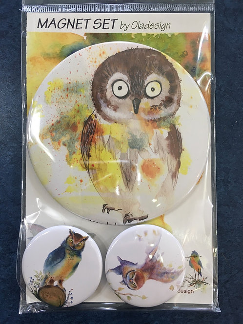 OlaDesign Magnet Set Owl