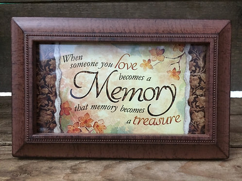 """6"""" x 3.75"""" Antiqued Brown Plastic Frame with Sentiment by Carson Home Accents"""