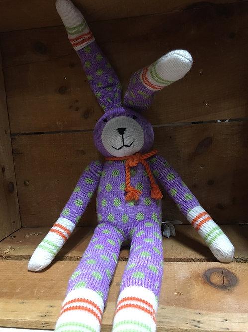 "18"" Reggie the Rabbit Sock Monkeez & Friends Brand Plush Stuffed Animal"