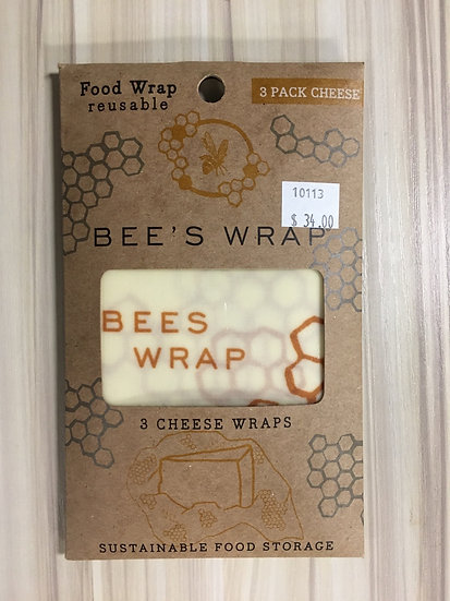 Bees Wrap 3 Pack Cheese Size