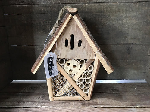 """9"""" x 8"""" x 4"""" Hanging Wood Pollinator Home by Koppers Imports"""