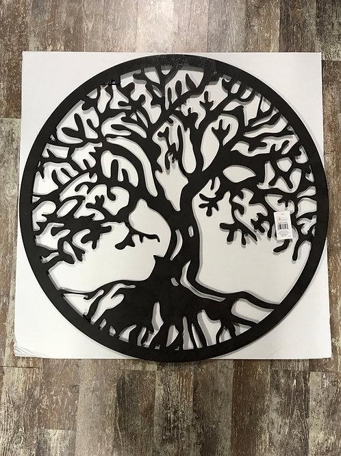 "31.5"" x 31.5"" Metal Tree of Life Circle Wreath by Panam"