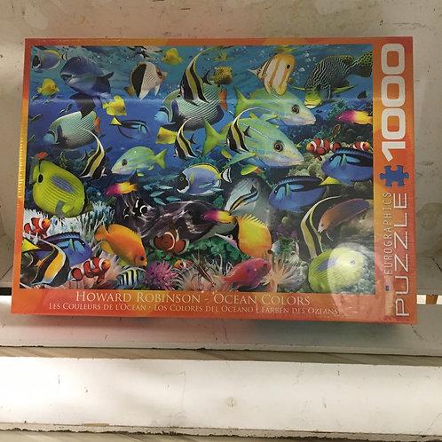 1000 Pc Eurographics Puzzle -Ocean Colours