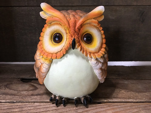 "5""x 4.5"" x 3.5"" Glow in the Dark Owl Figurine by GiftCraft"