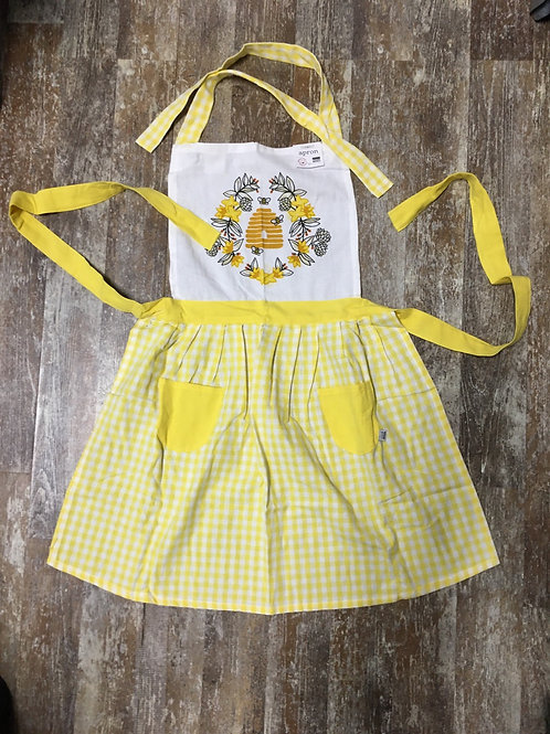 Bee Pattern 100% Cotton Apron with 2 Front Pockets by Now Designs