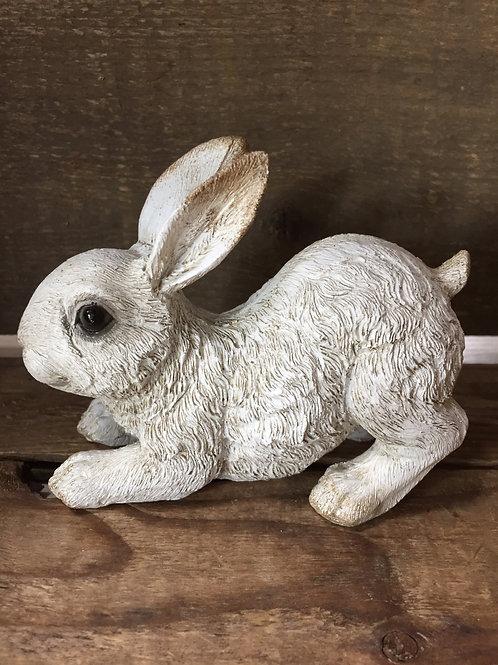 """4""""x 2"""" x 2"""" Ceramic White Bunny Rabbit Figurine by Koppers Imports"""