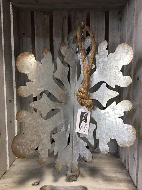 3D Galvanized Snowflake