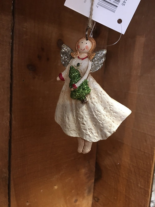 Angel with Tree Ornament
