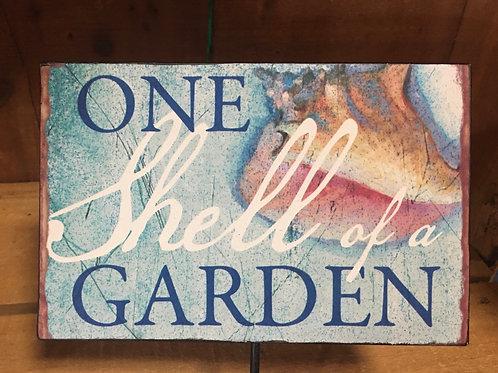 """""""One Shell Of a Garden"""" Garden Stake"""