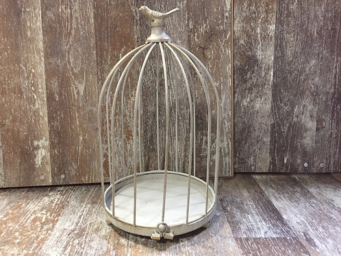 """14"""" x 8.5"""" x 8.5"""" Metal Bird Cage Decoration by GiftCraft"""
