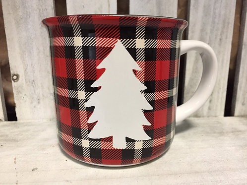 Plaid Tree Ceramic Mug