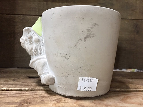"5.5"" x 4.25"" x 4"" Gnome Concrete Planter by Abbott"