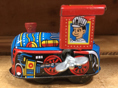 """2"""" x 2"""" Train Metal Windup Collectible Toy"""