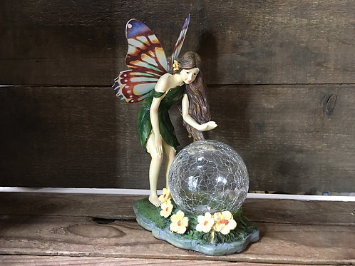 """7.75"""" x 5"""" x 3.5"""" Fairy Garden Statue by GiftCraft - Final Sale (no batteries)"""