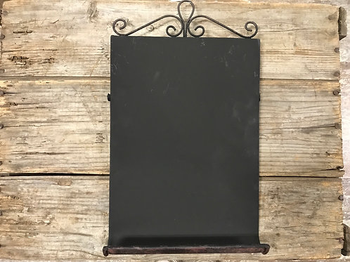 """14"""" x 8.25"""" x 1.5"""" Metal Chalkboard Easel by GiftCraft"""