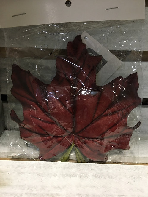 """Burgundy 6 Pack of 5"""" x 5"""" Silk Leaves by GiftCraft"""
