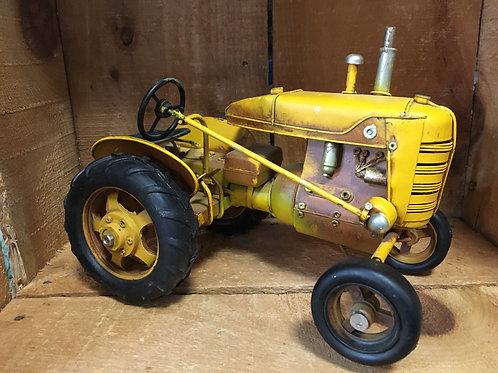 "Yellow Tractor - 9"" x 6"" x 5.5"""