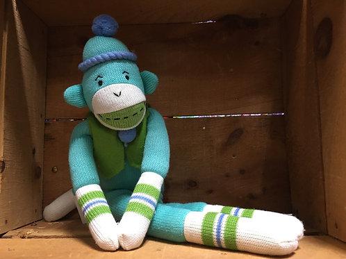 "22"" Fletcher the Monkey Sock Monkeez & Friends Brand Plush Stuffed Animal"