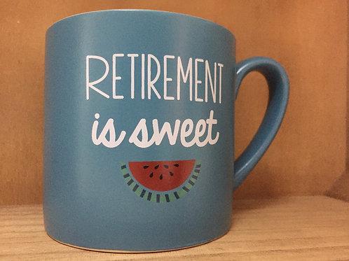 """Retirement is Sweet"" Ceramic Mug"