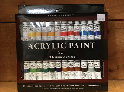 24 Colour Acrylic Paint Set by Studio Series