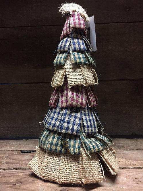 "10"" Fabric and Cardboard Tree"