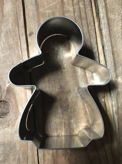 "3"" x 2.5"" Metal Angel Shaped Cookie Cutter"