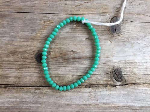 Teal Beaded Bracelet by Ecosse