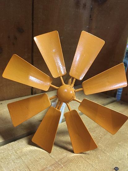 Windmill Garden Stake - Orange