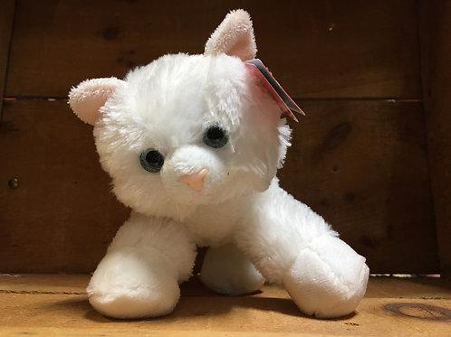 """7""""Sugar Too White Cat Aurora Brand Plush Stuffed Animal"""