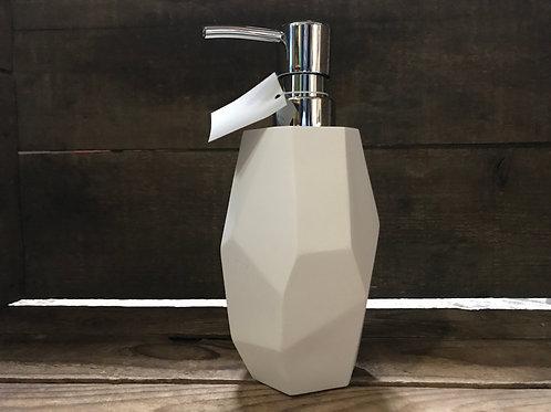 """7.5"""" x 3.5"""" x 3.5"""" White Plastic Soap Dispenser by Nostalgia"""