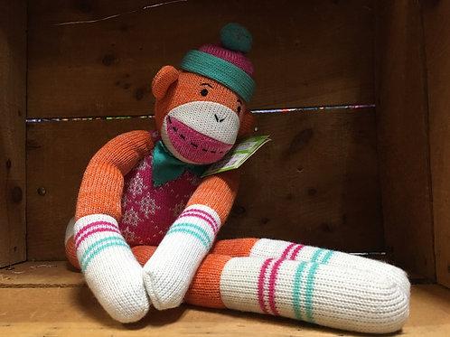 "20"" Addison the Monkey Sock Monkeez & Friends Brand Plush Stuffed Animal"