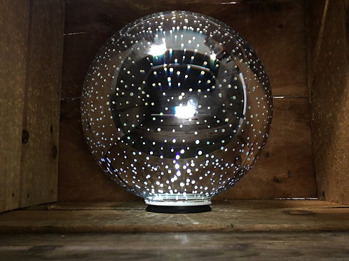 """10.5"""" x 9"""" x 9"""" Light Up Battery Powered Gazing Ball with Flat Silicone Bottom"""